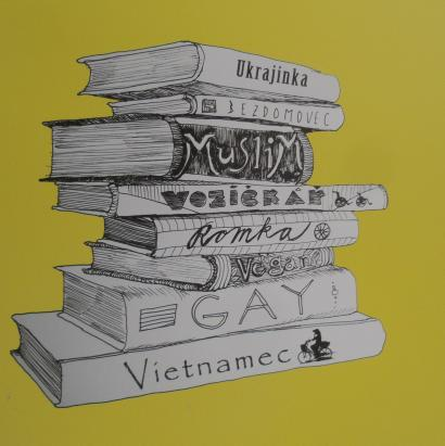 ziva knihovna - ilustracni foto