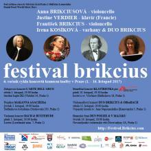 Festival Brikcius - 6. ročník cyklu koncertů komorní hudby v Praze (1. - 16. listopad 2017)
